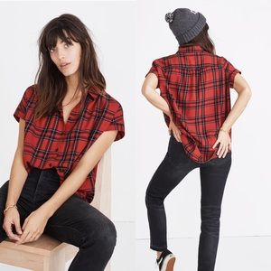 •MADEWELL• Central Shirt in Dahl Plaid